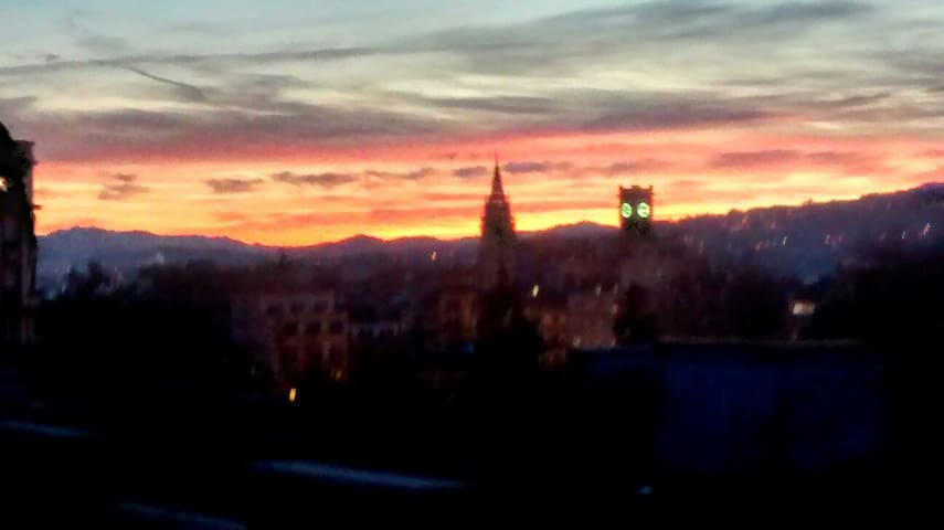 Ático céntrico con preciosa terraza - Oviedo - Casa