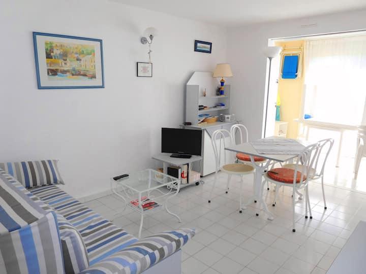 Cap d'Agde, RDC Terrasse, 6 Pers, Piscine, Pkg.