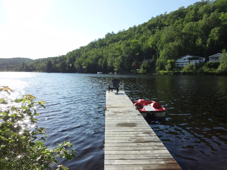 Our lake dock. Says it all...