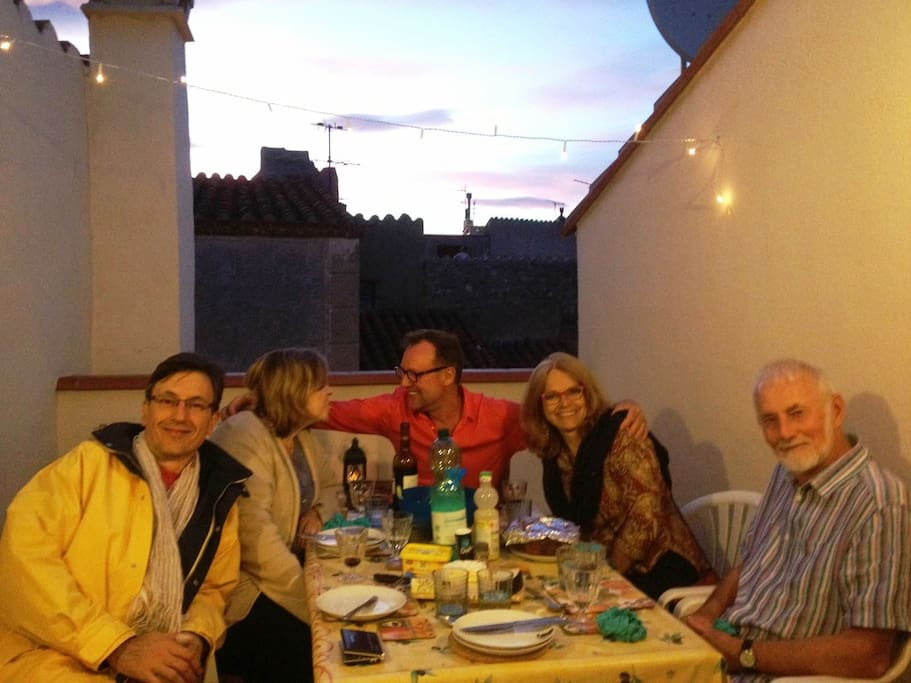 Dining at sunset or under the stars in your lovely Argeles-sur-Mer village holiday rental