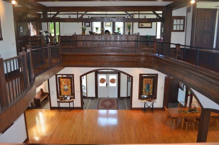 View of the atrium area.