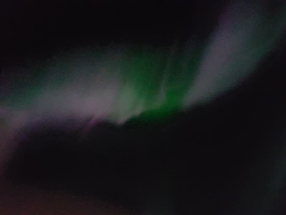 northern lights, taken with mobile phone camera.