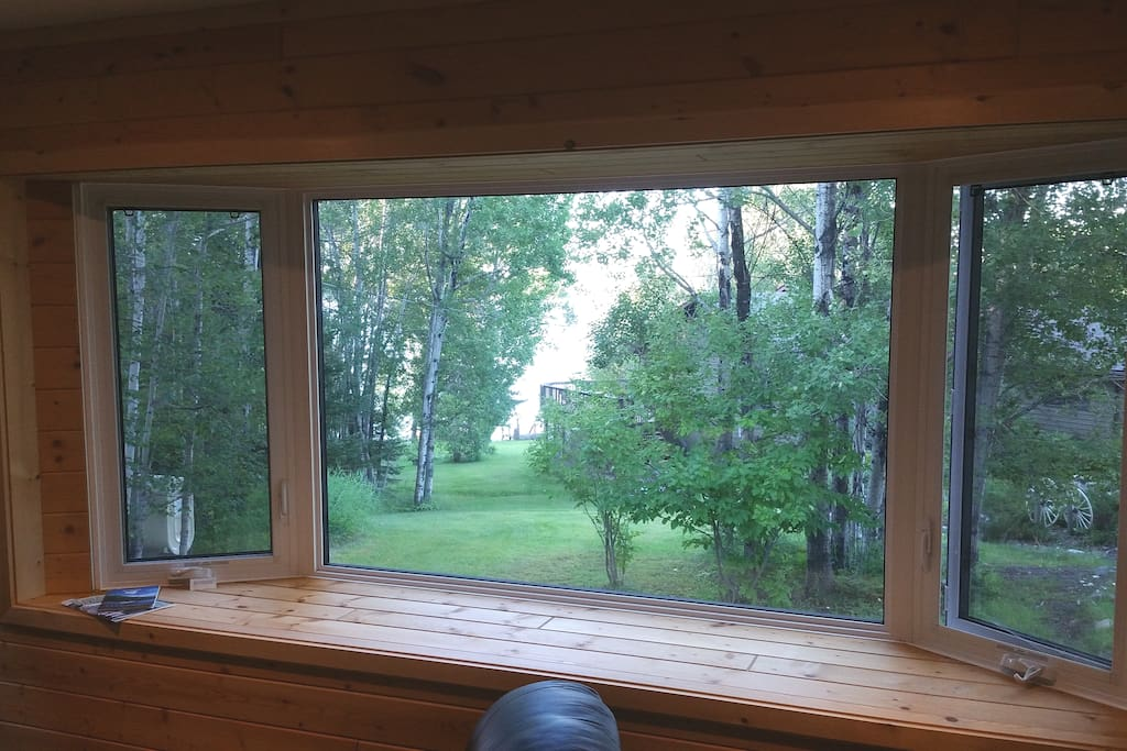 Bay Window with a View of the Winnipeg River