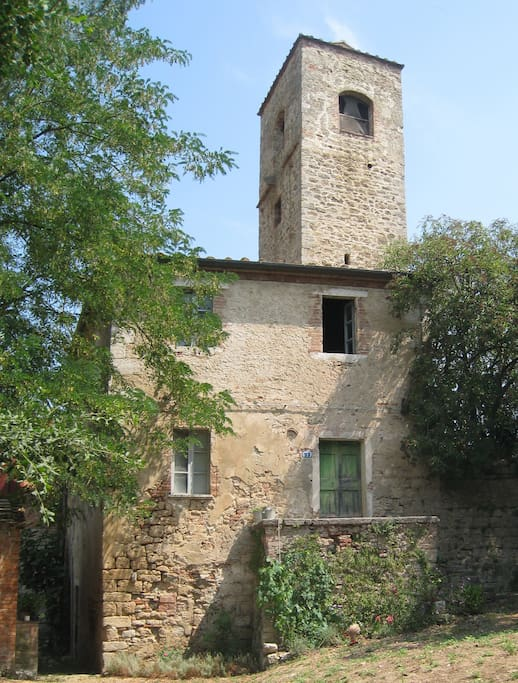1100 d.c. tower with water mill