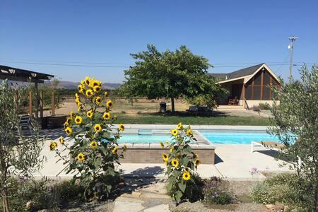 Idyllic Sonoma Vineyard Farmhouse With Pool