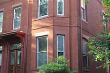 Victorian row house in national historic district
