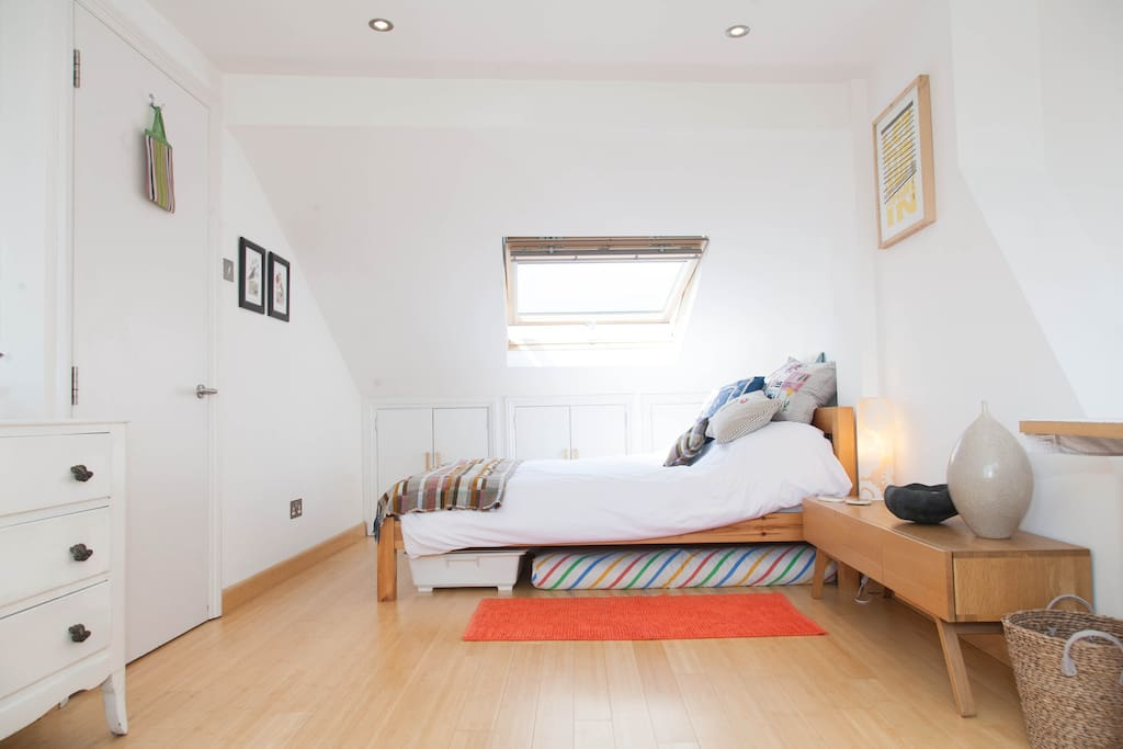 Spacious light loft room with your own private bathroom just next door