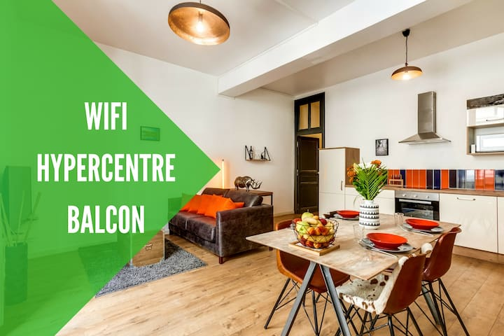 HYPERCENTRE + WIFI + BALCON - Angers - Apartment
