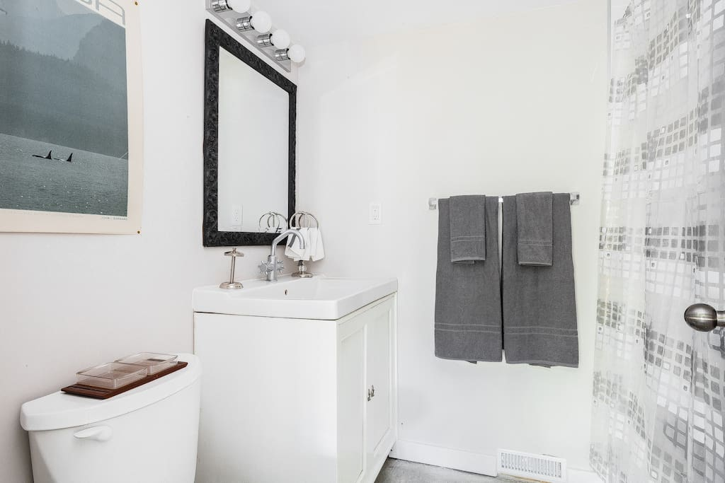 Here's the first bathroom, yours exclusively!