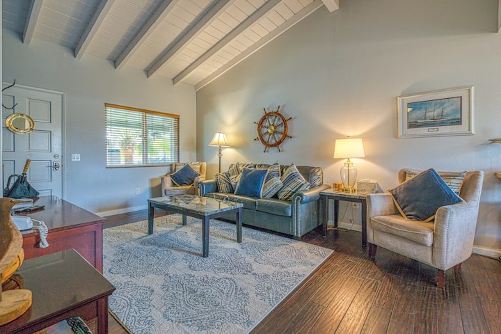 Cozy, private condo right in the village - just steps from the beach!