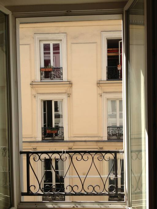 View from the flat: typical Parisian building!