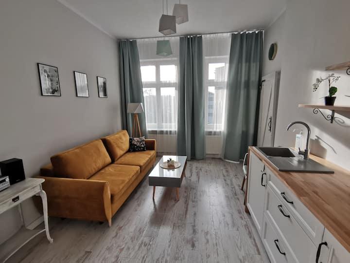 Przytulny apartament w centrum. Kupiecka/Drzewna