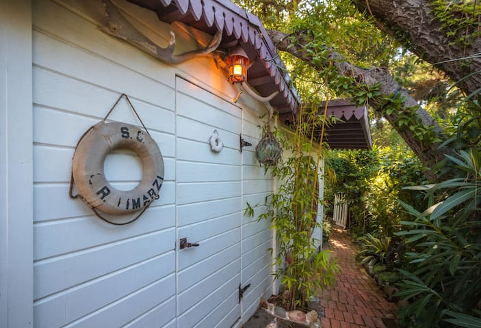 Side exit to guest house.
