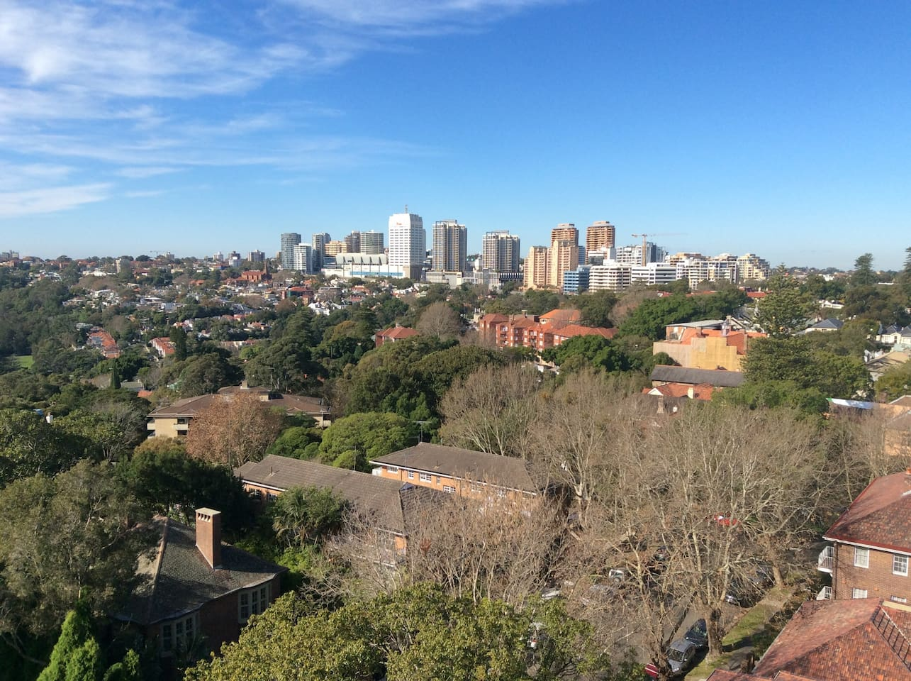 View from balcony, 15 min walk to Bondi Junction.