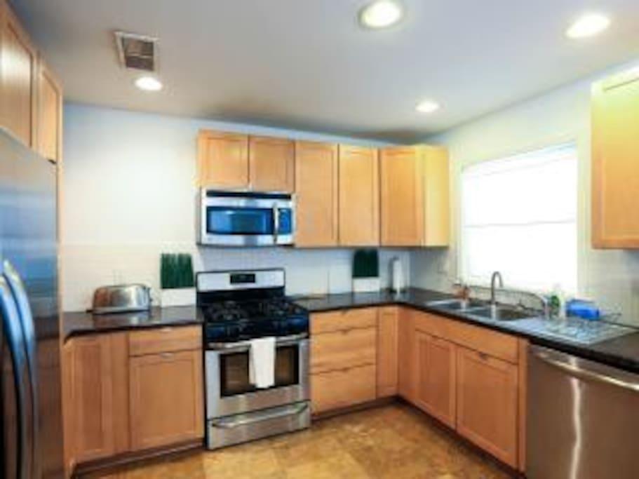 Kitchen is has full appliances.