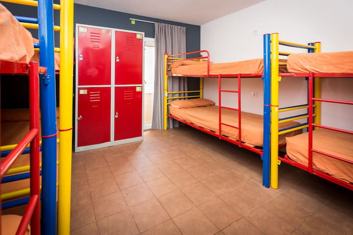 Bed in 8 bed mix dormitory