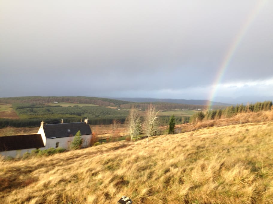 The house on the hill. With Rainbow!