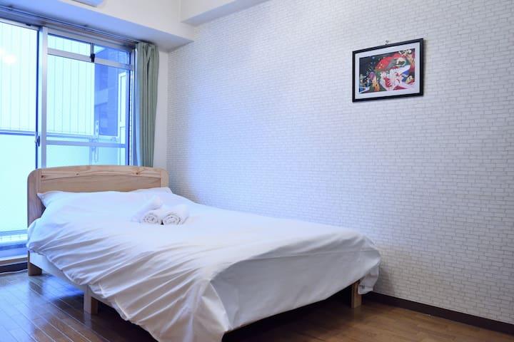 Semi-double size bed,  120cmX195cm