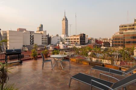 Mexican Artcraft. Balcony flat. - Ejido del Centro - Condominio