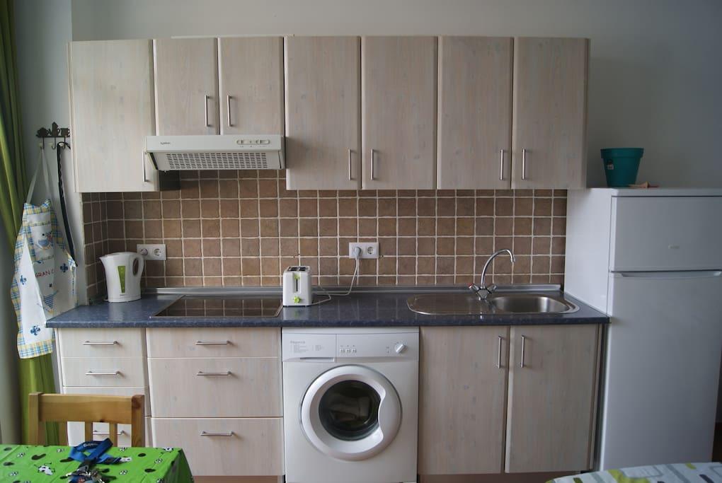 kitchen and washing machine