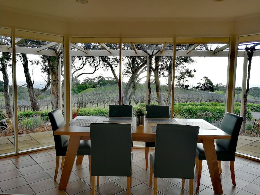 Have a meal with a gorgeous vineyard view in front of you. You would also be able to watch sunset from here.