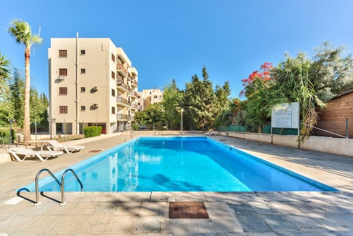 2-bedroom flat with sea view - Agios Tychon - Appartement