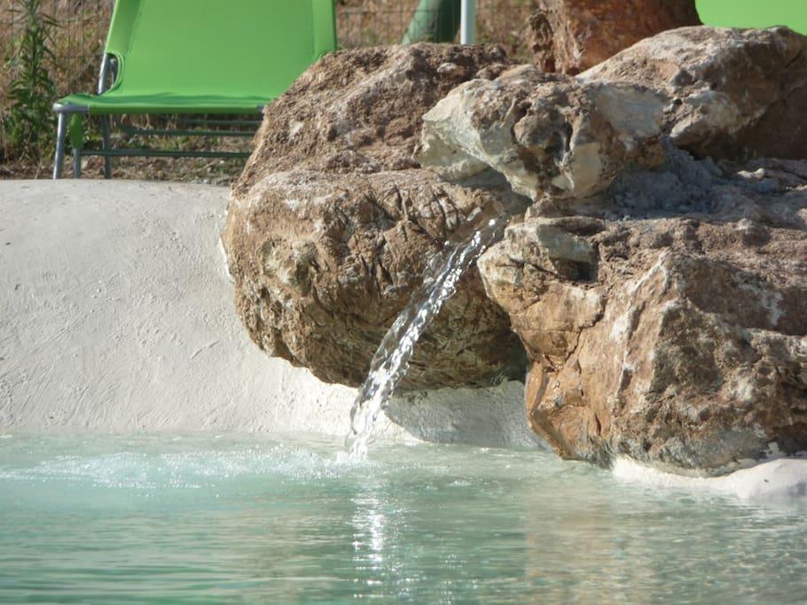 sorgente sullla piscina-laghetto
