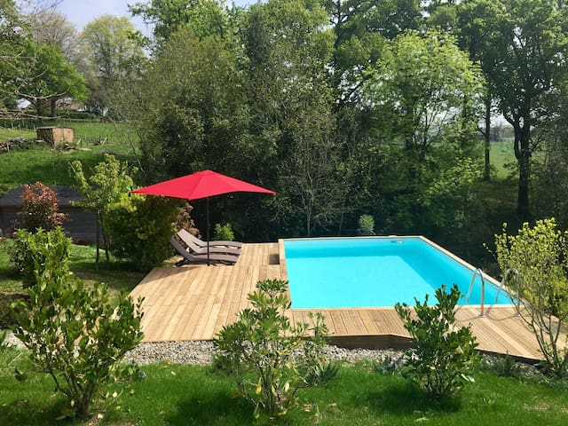 Appart. atypique, piscine privative - Villefranque - Apartamento