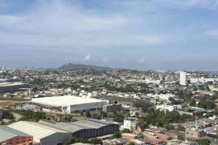 Hermosa vista Bahía,Contecar, LaPopa #cartagening