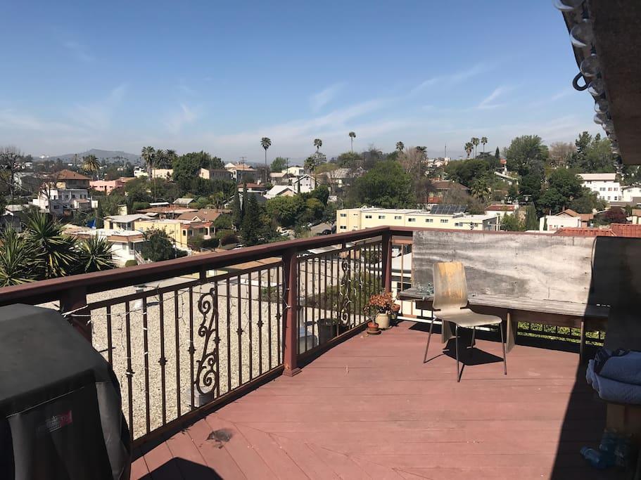 Huge deck with panoramic views of Los Angeles