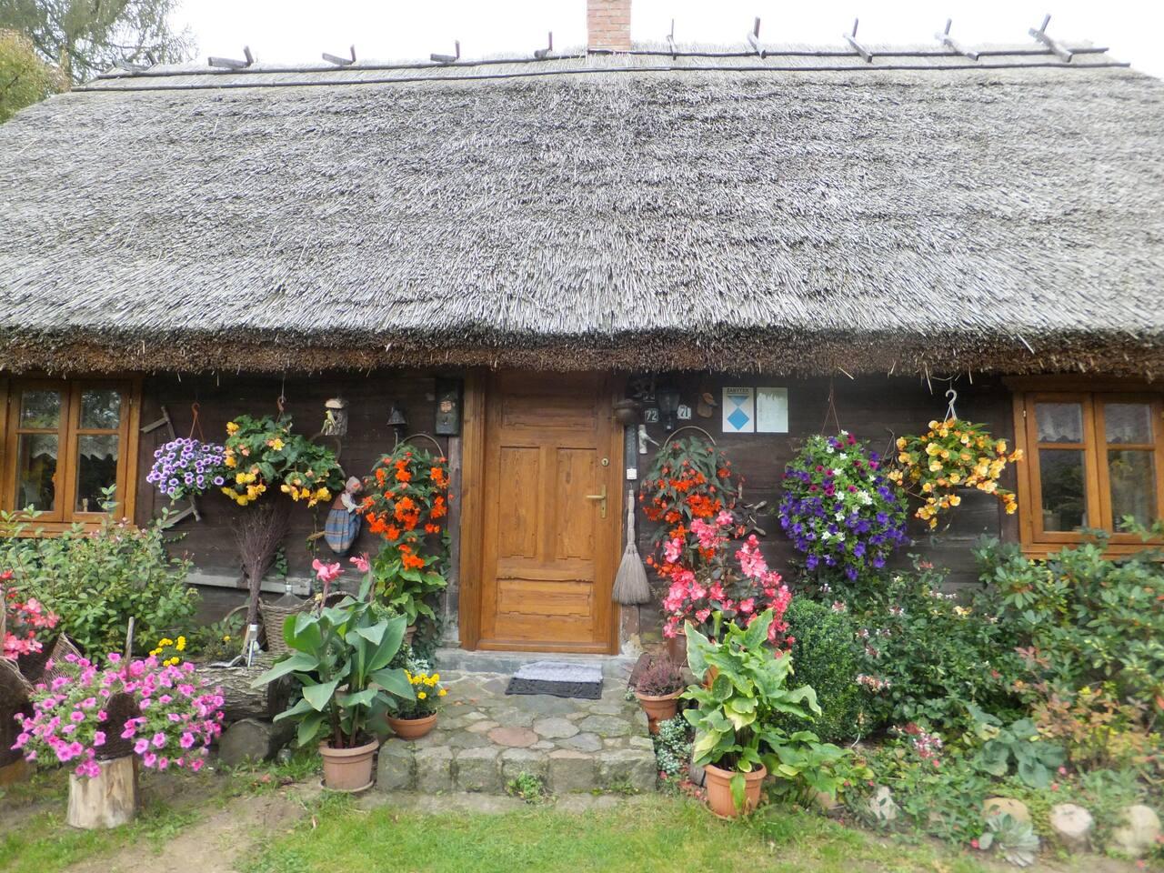 Zabytkowa 150 letnia Chata Borowiacka