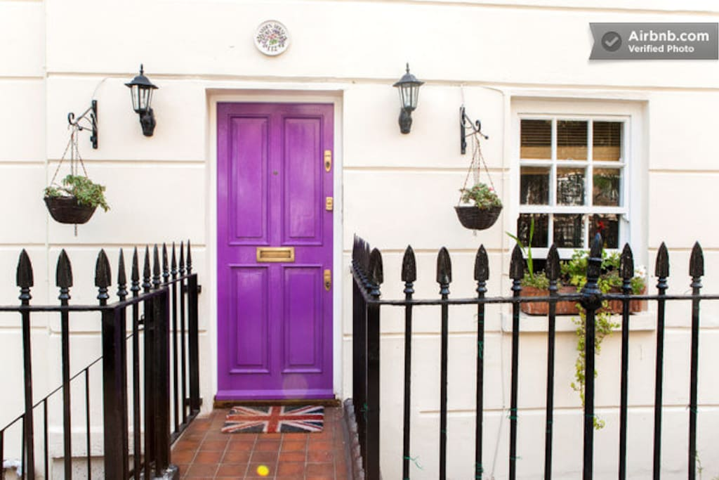 Yes, it is the house with the purple door