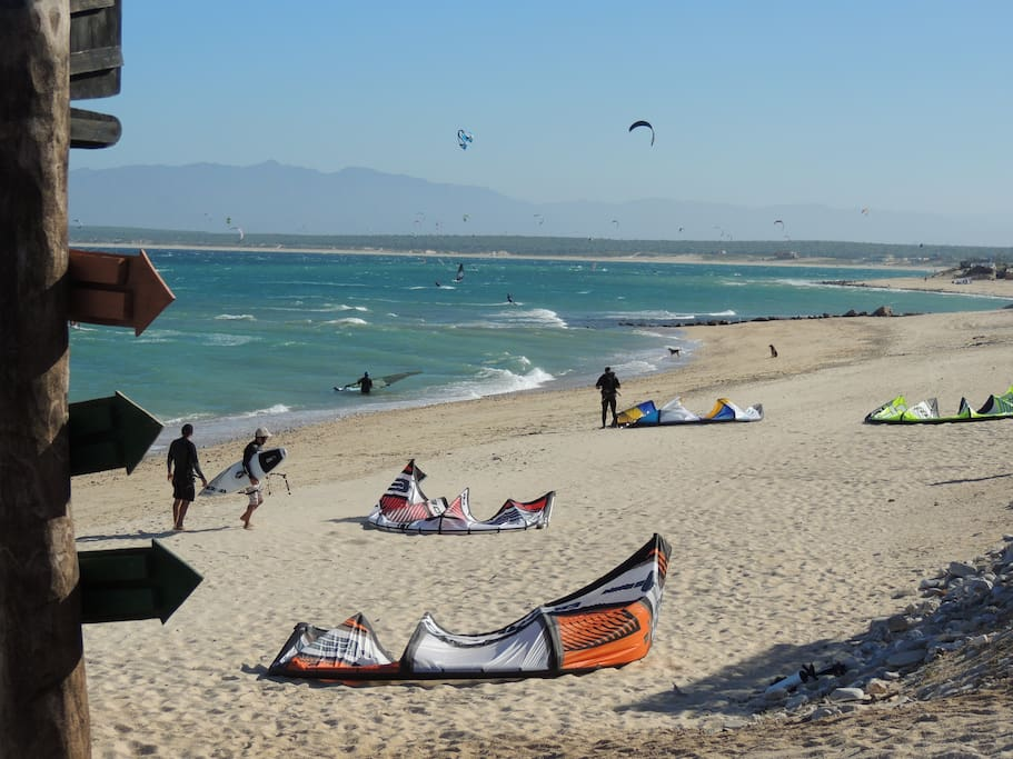 Enjoy winter months. A wind junkies paradise.   We offer kite lessons, SUP and windsurf rentals.