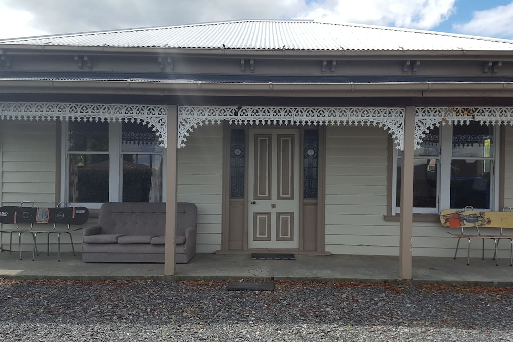 Front door of the Mt Hutt cottage