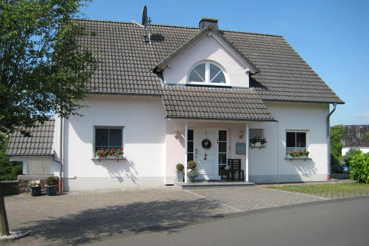 House with modern interior and garden in the Volcanic Eifel near deer and game park