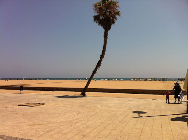 5 km long promenade and beach.