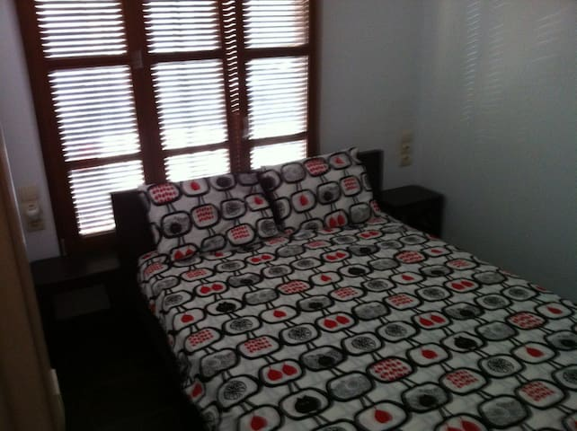 Master room with double bed.