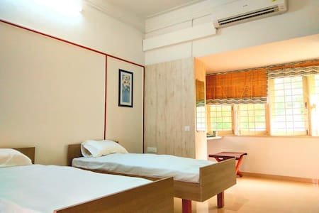 Bungalow Room with Acess to Private  Green Terrace - Ahmedabad