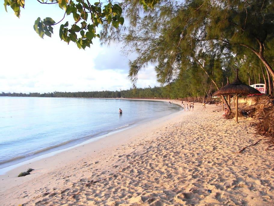 mon choisy beach,a short walk from the apartment.