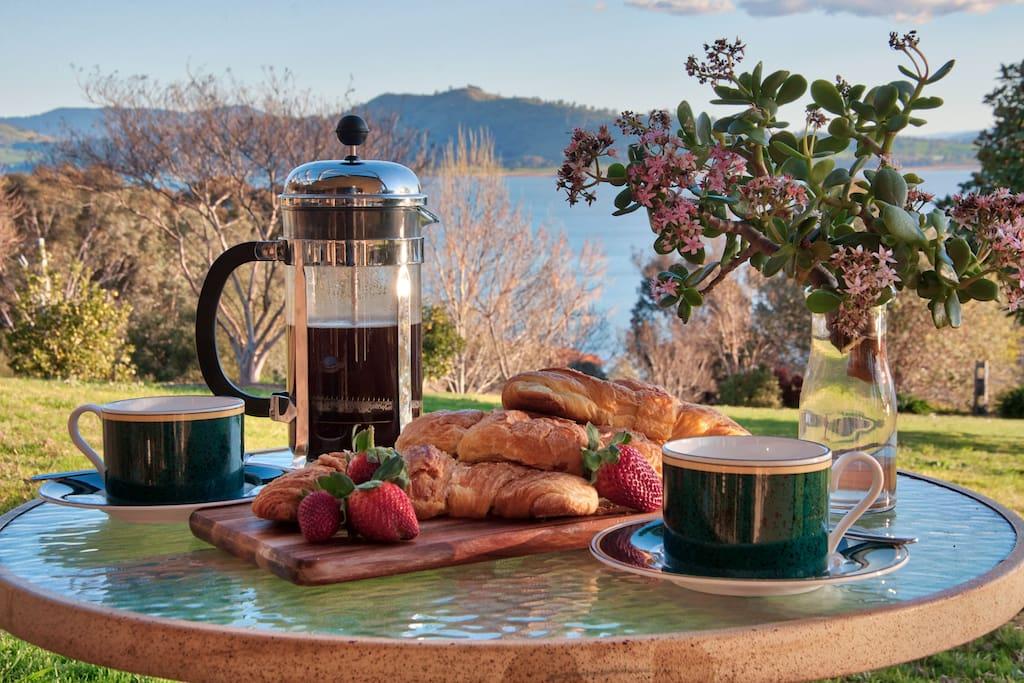 Enjoy the wonderful views over a coffee on the verandah
