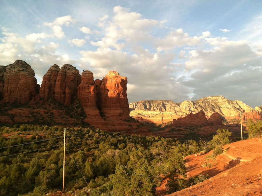 No roughin 39 it cabin w views steps to hiking for Cabin in sedona az