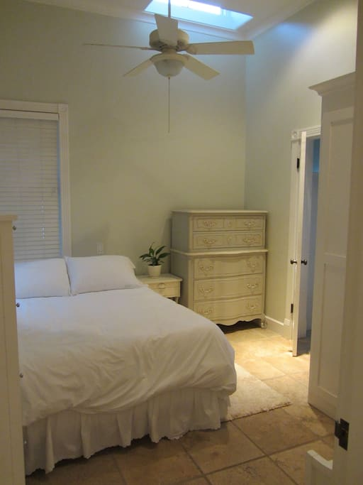 Bedroom, with new queen size memory foam mattress