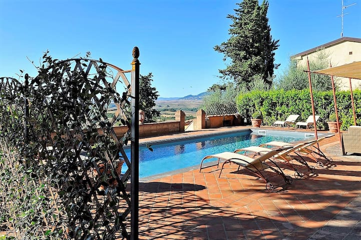 Art-nouveau villa with private garden and pool