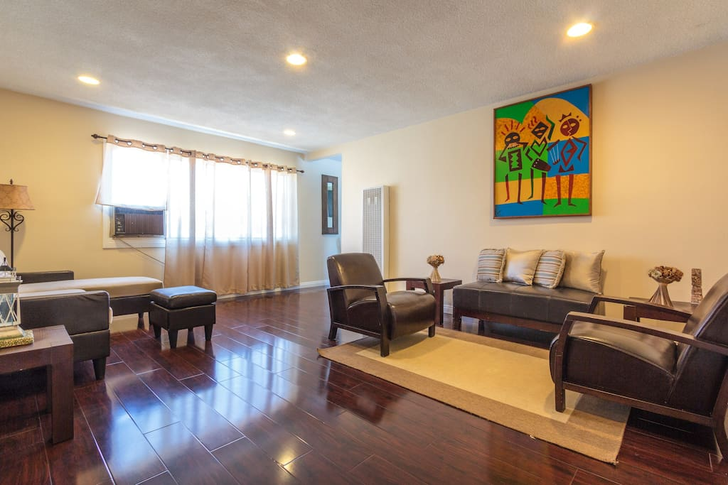 Very Spacious Living room which can be the sofa bed for a guest
