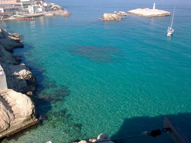 Exceptional + private access to sea - Marselha - Apartamento