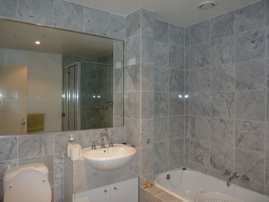 2nd Bathroom with shower and bath