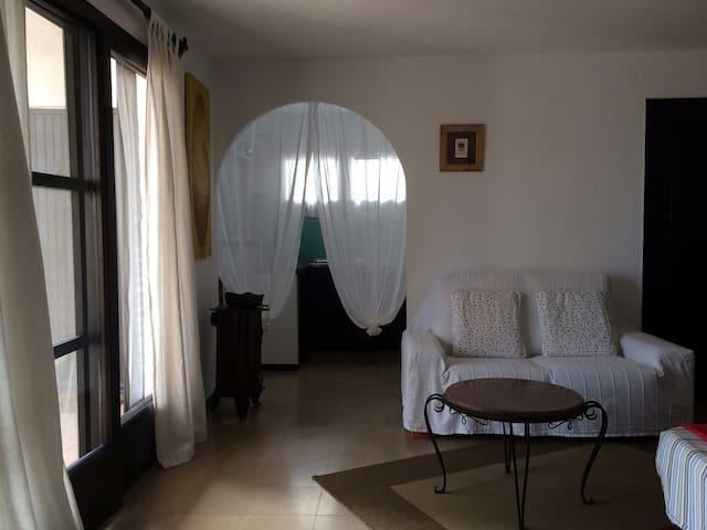 bedroom - living room - kitchen