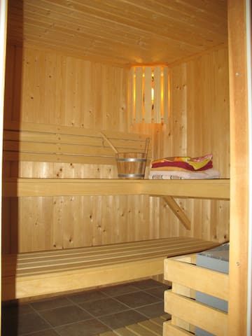 Studio, privacy and sauna