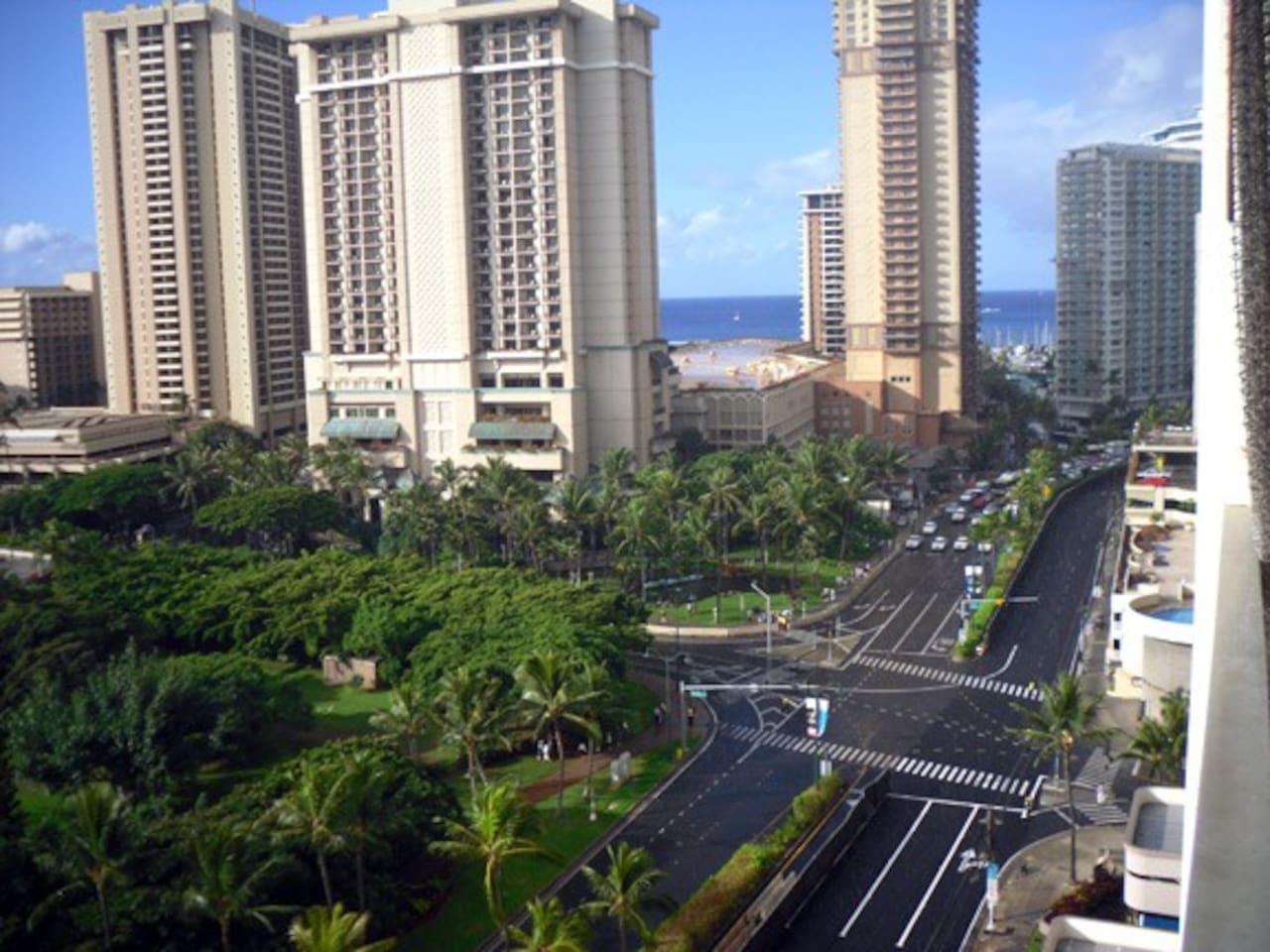 View from lanai (balcony.)