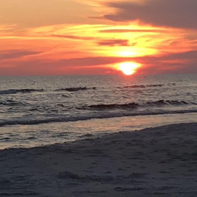 Sunset over Inlet Beach